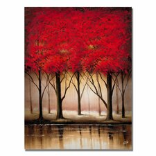 'Serenade in Red' Canvas Art