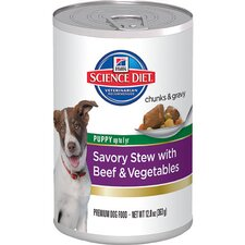 Puppy Savory Stew with Beef and Vegetables Wet Dog Food (12.8 oz)