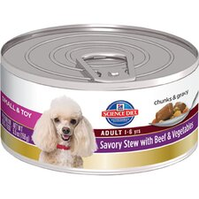 Small and Toy Adult Savory Stew with Beef and Vegetables Wet Dog Food (5.5-oz)