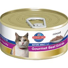 Mature Adult Gourmet Beef Entrée Wet Cat Food