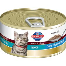 Adult Indoor Cat Savory Seafood Entrée Wet Cat Food (5.5-oz)