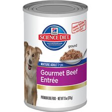 Mature Adult Gourmet Beef Entrée Wet Dog Food (13-oz)