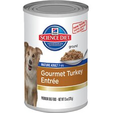 Mature Adult Gourmet Turkey Entrée Wet Dog Food (13-oz)