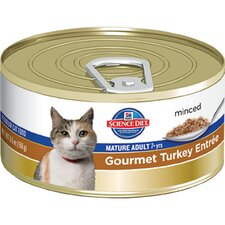 Mature Adult Gourmet Turkey Entrée Wet Cat Food