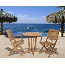 Amazonia Dallas 3 Piece Dining Set