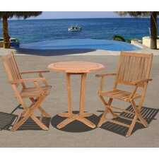 Amazonia Houston 3 Piece Dining Set