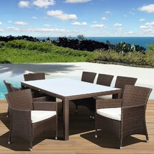 Atlantic Liberty Deluxe 9 Piece Dining Set