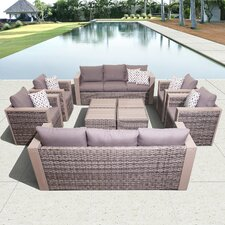 Atlantic Cameron 10 Piece Conversation Set with Cushion