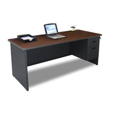 "Pronto 72"" Single Pedestal Computer Desk"
