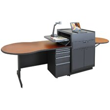Zapf Office Support Instructor's Desk with Steel Door