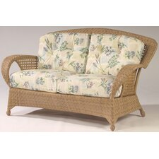 Boca Wicker Loveseat with Cushions