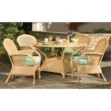 Boca 5 Piece Round Dining Table Set
