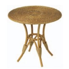 WickerLoom Round Table with Glass Top