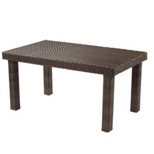 All-Weather Rectangular Woven Dining Table