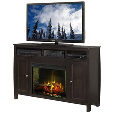"Curve 63"" TV Stand with Electric Fireplace"