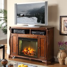 "Cambridge 62"" TV Stand with Electric Fireplace"