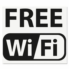 Self-Stick Free Wi-Fi-Sign