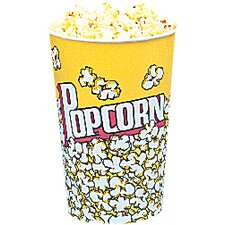 Yellow Popcorn Cups (Set of 50)