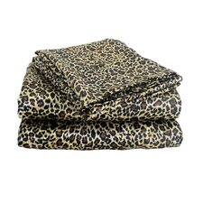 Charmeuse Satin 230 Thread Count Leopard Print Sheet Set