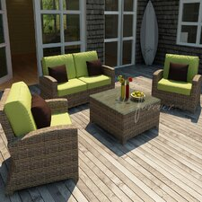 Cypress 4 Piece Deep Seating Group with Cushion