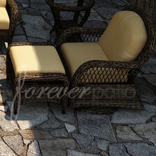 Leona Deep Seating Chair and Ottoman with Cushion