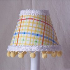Fun Primary Plaid Chandelier Shade