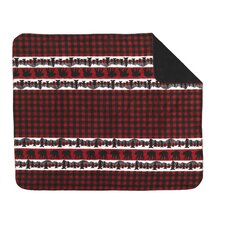 Acrylic Bear Plaid Border Double-Sided Throw