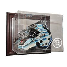 NHL Goalie Mask Case Up Display Case in Mahogany