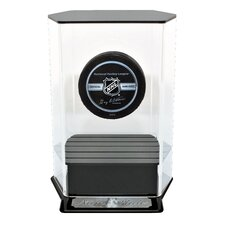 Floating Hockey Puck Display with Engraving