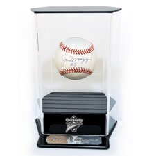 Floating Baseball Display with Engraving