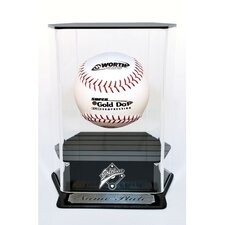 Floating Softball Display with Engraving