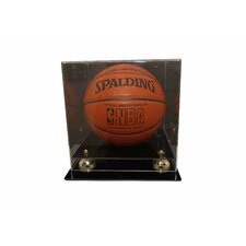 Deluxe Basketball Display with Gold Risers