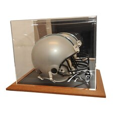 Simulated Oak Wood Base Helmet Display Case