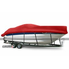 WindStorm High Profile Cabin Cruisers Boat Cover with Windshield and Bow Rails