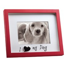"Home Shadowbox ""I Love My Dog"" Picture Frame"