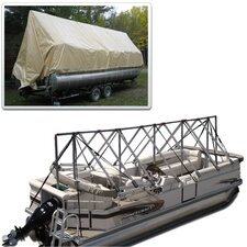 23 to 24 ft Storage System Pontoon with Tarpaulin Cover (does not cover motor)