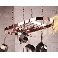 Gourmet Oval Pro Hanging Pot Rack