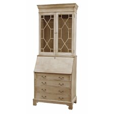 Painted Drawer Secretary with Laptop Pigeonholes & Hutch