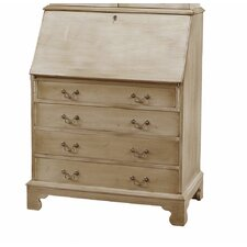 Traditions Painted Drawer Secretary with Laptop Pigeonholes