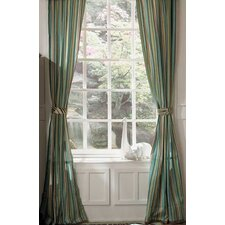 Bali Window Drape Panel Pair with Tiebacks