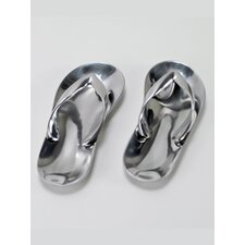 Aluminum Sandals Sculpture (Set of 2)