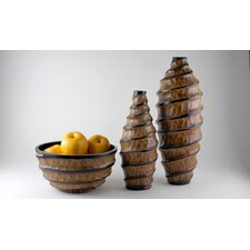 Vortex Vase and Bowl Set (Set of 3)