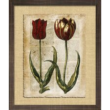 Floral Living Antiquarian Tulips II Framed Wall Art