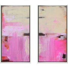 Modern Living Sweet Emotion Diptych Framed Wall Art