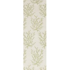 Boardwalk Lettuce Leaf/White Rug