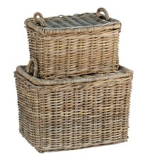 French Picnic Basket (Set of 2)