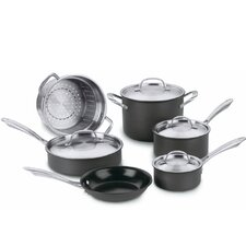 Green Gourmet Hard Anodized  10-Piece Cookware Set