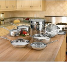 Chef's Classic Stainless 14-Piece Cookware Set