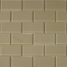 "4"" x 2"" Glass Tile in Wheat"