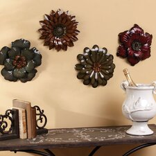 Bohemian Rhapsody Metal Flower Wall Decor (Set of 4)